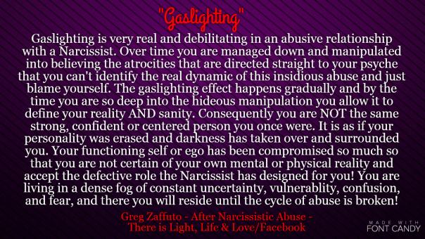 Narc Mind Games: Gaslighting – Divorcing a Narcissist Blog